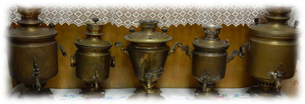 Русские старинные самовары