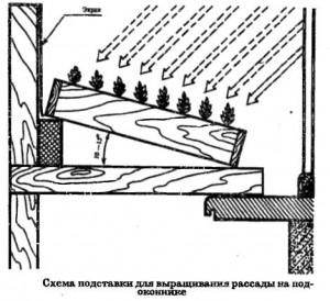 Схема подставки для рассады