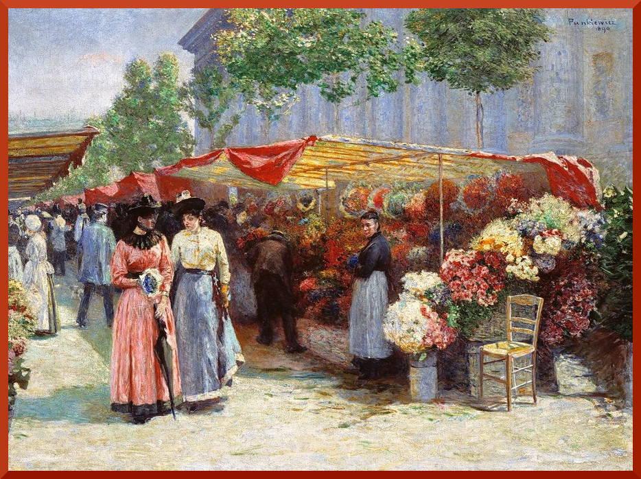 Панкевич. Цветочный базар
